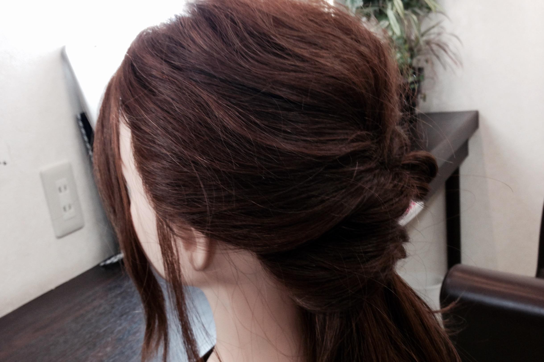 髪が多くても大丈夫!簡単アレンジ!