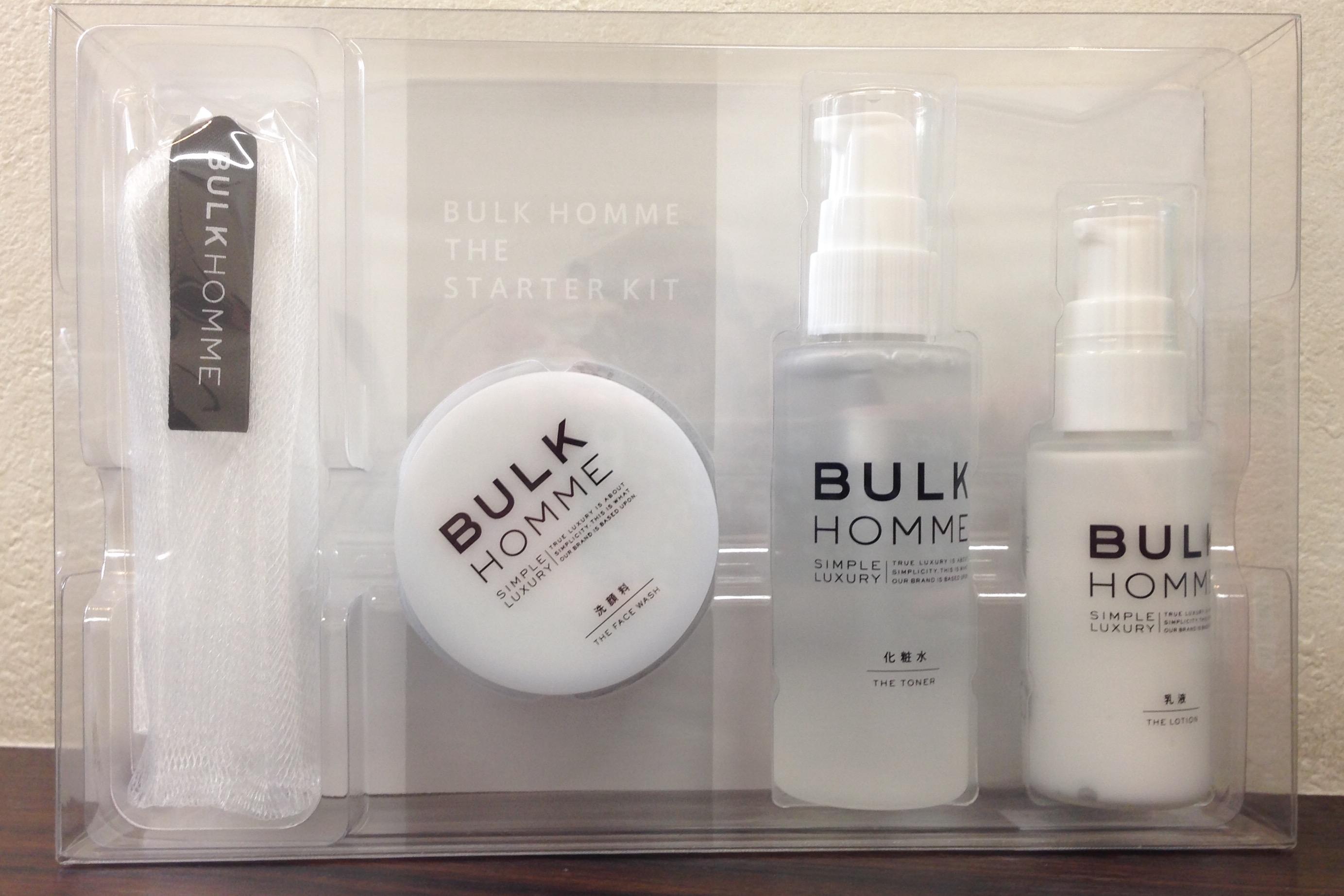 BULK HOMME スターターキット販売中!!
